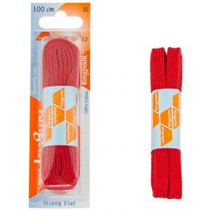 Ringpoint Kengännauhat Litteä Punainen 100cm
